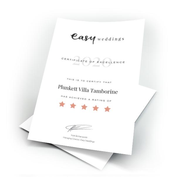 easy wedding certificate